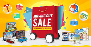 MUMS SG – Moving Out Warehouse Sale (with price list) from 27 – 28 Apr 2017