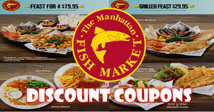 Manhattan FISH MARKET releases new discount e-coupons offering irresistible deals! Valid from 11 Apr – 30 Jun 2017