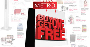 Metro: Buy one get one free (1-for-1) special buys this long weekend from 28 Apr – 1 May 2017