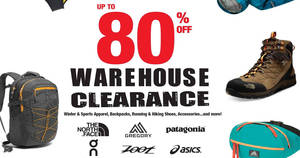 Save up to 80% off North Face, Asics, On, Zoot & more at Outdoor Venture's Warehouse Clearance sale from 27 – 30 Apr 2017