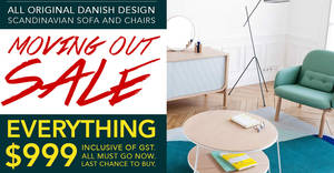 Save up to 90% off Scandinavian furniture at Sketch Furniture's showroom sale from 22 – 23 Apr 2017