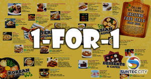 Suntec City: Over 15 1-for-1 F&B deals to whet your appetite from 10 Apr – 21 May 2017