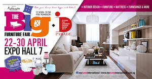 The Big Furniture Fair at Singapore Expo from 22 – 30 Apr 2017
