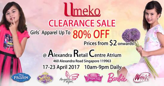 Umeko clearance sale 13 Apr 2017