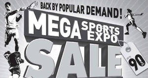 World of Sports: Mega Sports Expo sale – Up to 90% off! From 28 Apr – 1 May 2017