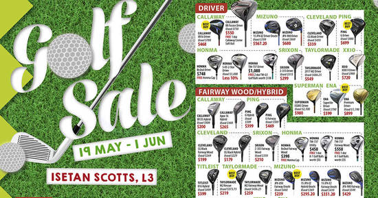 Golf sale feat 15 May 2017