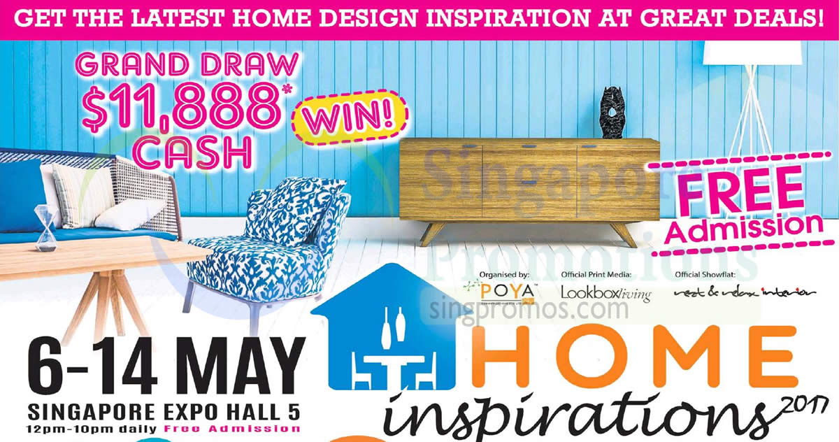 Home Inspirations 2017 furnishing fair at Singapore Expo from 6
