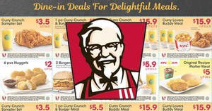 KFC releases NEW discount e-coupons offering savings of up to $11.40! Valid from 11 May – 25 Jun 2017