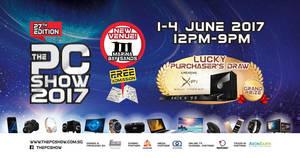 PC Show 2017 will be held at Marina Bay Sands Expo & Convention Centre from 1 – 4 Jun 2017