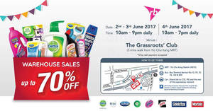 RB (Dettol, Veet, Scholl, Air Wick, etc) warehouse sale from 2 – 4 Jun 2017