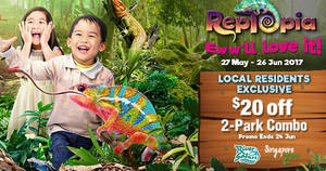 River Safari & Singapore Zoo: Enjoy $20 off when you visit both from 27 May – 24 Jun 2017