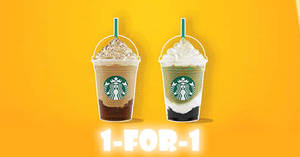 Starbucks: 1-for-1 Summer Frappuccino Happy Hour promo from 31 May – 2 Jun 2017, 3 – 7pm!