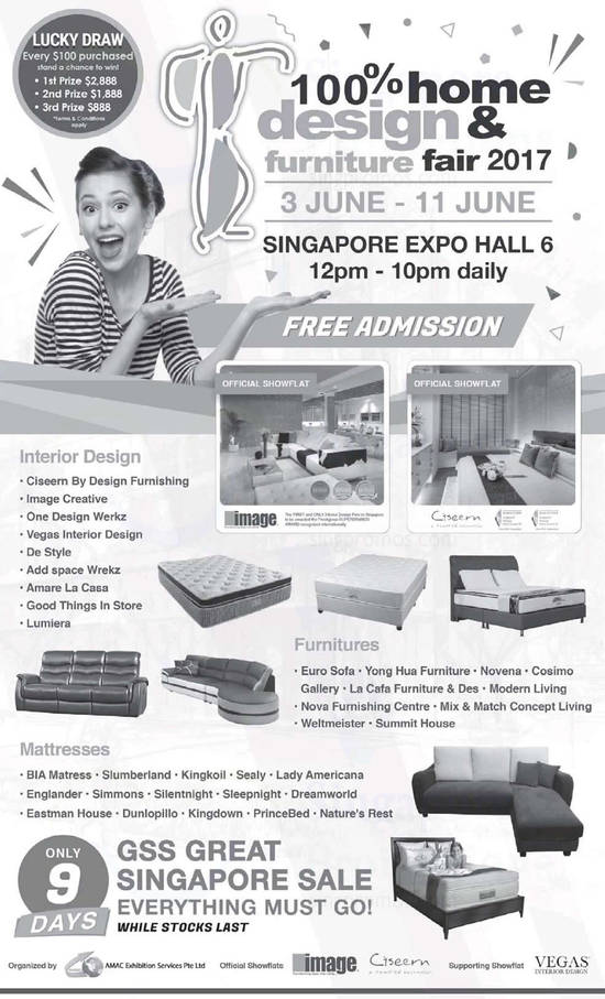 100 Home Design Furniture Fair 2017 at Singapore Expo from 3
