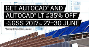 Autodesk: Get 35% off* AutoCAD and AutoCAD LT for 4-days only! From 27 – 30 Jun 2017