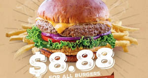 Chili's: Enjoy ALL burgers for $8.88 for one-day only! Valid on 28 Jun 2017