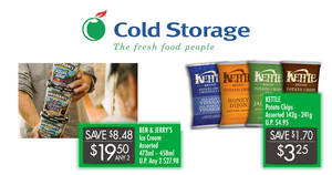 Cold Storage: Kettle Brand potato chips at $3.25 (U.P. $4.95), Ben & Jerry's & more! From 23 – 26 Jun 2017