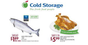 Cold Storage 4-days deals: Salmon, BBQ Chicken & more! Valid from 29 Jun – 2 Jul 2017