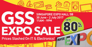GSS Expo Sale by Megatex at Singapore Expo from 30 Jun – 2 Jul 2017