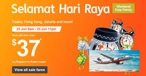 Jetstar: Weekend Fare Frenzy sale fares fr $36 all-in to over 20 destinations! Book from 23 – 25 Jun 2017