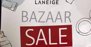 Laneige Bazaar Sale at PWC Building from 28 – 29 Jun 2017