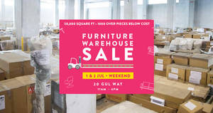 Proof Living 50,000 sq ft warehouse sale of the decade! From 1 – 2 Jul 2017