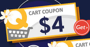 Qoo10: Grab free $4 cart coupons! Valid from 26 – 29 Jun 2017