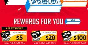 Qoo10: Grab free $5, $20 & $100 cart coupons! Valid from 22 – 25 Jun 2017