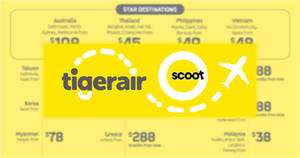 Scoot & Tigerair: Sale fares fr $38 all-in to over 58 destinations! Book from now till 2 July