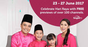 Singtel TV: FREE preview of over 100 channels for Singtel TV customers! From 23 – 27 Jun 2017