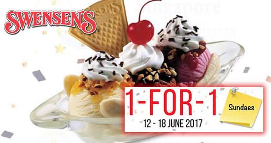 Swensens 1for1 Sundaes feat 2 Jun 2017