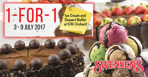 Swensen's: 1-for-1 Ice Cream and Dessert Buffet at ION Orchard! Valid from 3 – 9 Jul 2017
