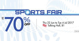 Takashimaya Sports Fair – Up to 70% off adidas, Ashford & more! From 22 Jun – 4 Jul 2017