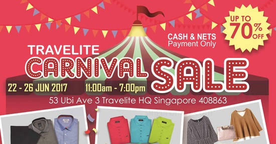 Travelite Carnival Sale feat 20 Jun 2017