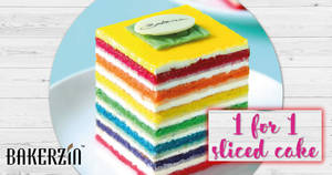 Bakerzin: 1-for-1 sliced cakes on Mondays! From 24 – 31 Jul 2017