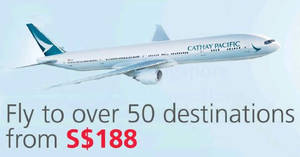 Cathay Pacific: Special all-in return fares fr $188 to over 50 destinations with DBS/POSB cards! Book from 19 Jul – 7 Aug 2017