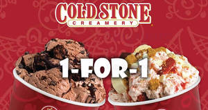 Cold Stone Creamery: 1-for-1 Signature Creations with SAFRA cards! Valid from 1 Jul – 31 Dec 2017