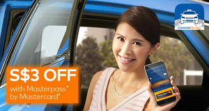 Comfort Delgro: $3 off taxi rides promo code with Masterpass payments! Valid from 20 Jul 2017