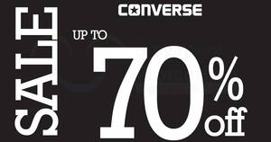 Converse: Up to 70% off sale at Bugis Junction! From 24 – 30 Jul 2017