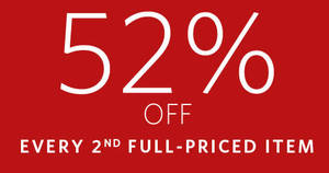 Esprit: Get 52% off every 2nd full-priced item at the online store! From 27 Jul – 13 Aug 2017