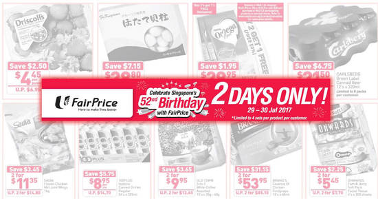 Fairprice twodays offers feat 29 Jul 2017