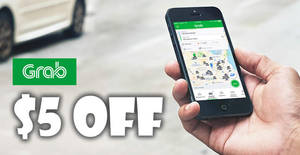 Grab: $5 off ALL Grab services (except GrabHitch and GrabShuttle) with OCBC cards! From 19 – 31 Jul 2017