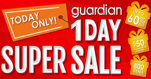 Guardian: Up to 60% off Super Sale returns for today only on 28 Jul 2017