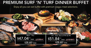 Gyuu+ at Emporium Shokuhin: 52% off premium Surf 'N' Turf dinner buffet! From 14 Jul – 20 Aug 2017