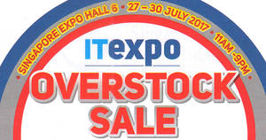 IT Expo – More than 2,000 items selling at only $98! From 27 – 30 Jul 2017