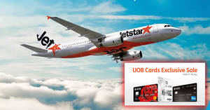 Jetstar Airways: UOB cardholders exclusive fares fr $38 all-in to over 25 destinations! From now till 1 Oct 2017