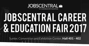 JobsCentral Career & Education Fair at Suntec from 22 – 23 Jul 2017
