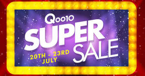Qoo10: Super Sale is back – grab $5, $20 & $100 cart coupons! Valid from 20 – 23 Jul 2017