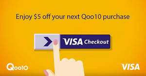 Qoo10: $5 off coupon for payments with Visa Checkout! Valid from 24 Jul – 30 Aug 2017