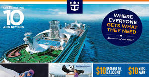 Royal Caribbean: Roadshow at Tiong Bahru Plaza – $10 kids fare, 2nd guest at $10 & more! From 25 – 26 Jul 2017