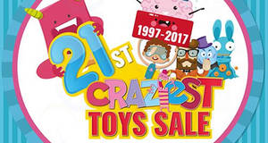 Takashimaya 21st Craziest Toys Sale – Hasbro, Sanrio, Star Wars & more! From 28 Jul – 6 Aug 2017